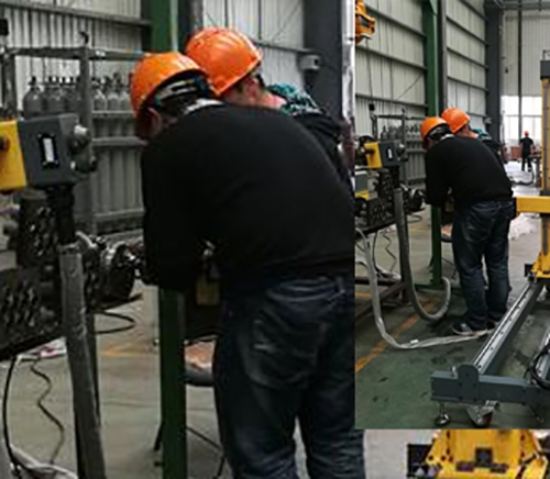 悬挂式管板自动焊机